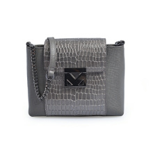 Women's Leather Courier Bag Mini Bag Crocodile