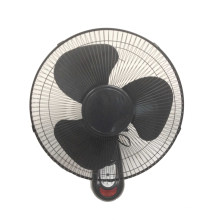 Wall Fan 16inch Full Black with Remote Control