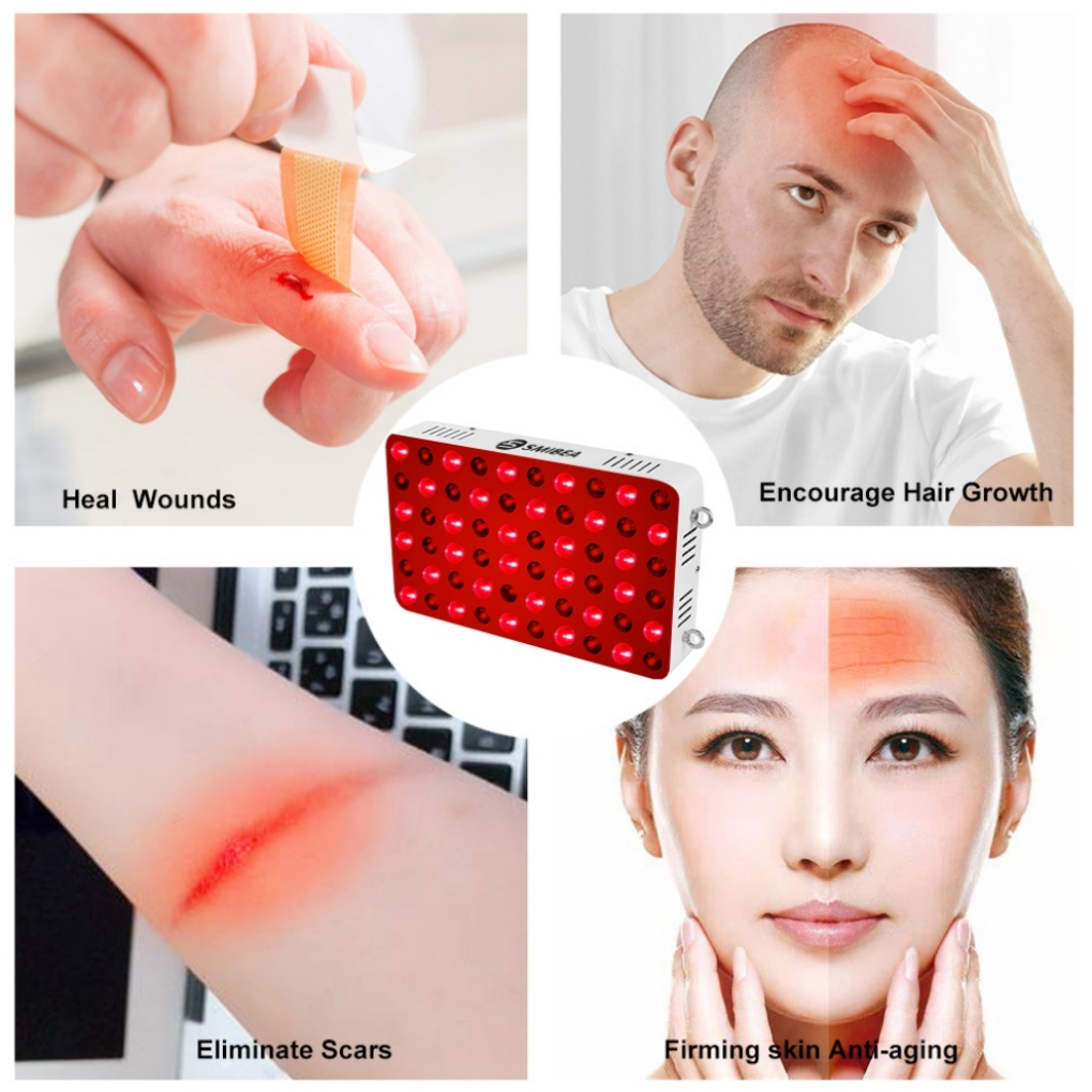 Portable Red Panel Light Therapy Device