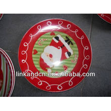 Haonai 2014 red pretty decal ceramic gift artwork plate