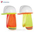 Bouclier de Sun d'ombre de cou de chapeau de sécurité de salut-vis, ombre réfléchie de casque de sécurité de construction de rayure de visibilité élevée
