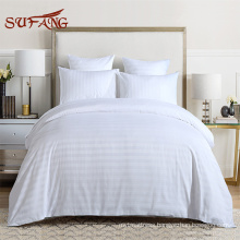 Hot sale online shop HOTEL and hospital linens 1-3cm stripe textile bedding from supply Sufang