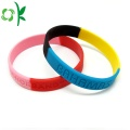 Nieuw type Mixed Color Silicone Wristbands Custom Logo
