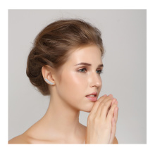 cubic zirconia full diamond clip earring in pure 925 silver