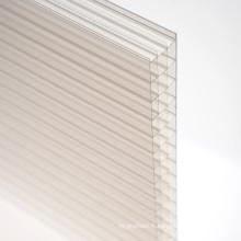Feuille de polycarbonate pour le puits de lumière de décoration 10 ans de garantie différentes couleurs