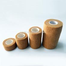 Médicos diferentes tipos de cor marrom não tecido crepe bandagem elástica
