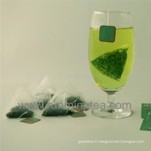 Sacs à thé en pyramide en nylon pour thé vert