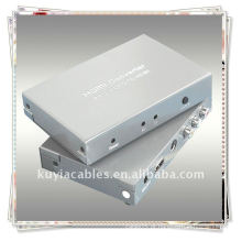 Composto para HDMI Converter melhorar o vídeo de entrada e desempenho de áudio melhor para saída de sinal de vídeo mais estável e claro 720p