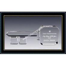"Key Player Award Crystal 9"" W (NU-CW689)"