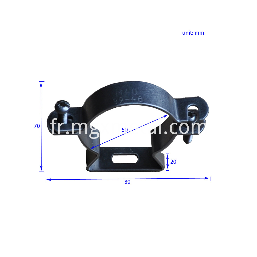 SCD0007D Dia 50mm Aluminum Tube Clamping Fixing Bracket Size