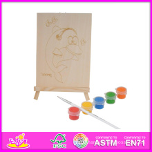 2014 New Play Kids Wooden Paint Toy, Popular DIY Children Play Paint Toy, Hot Sale Educational Baby Paint Toy Set W03A045