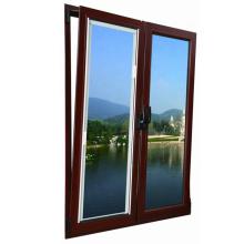 fenêtres à guillotine en aluminium de haute qualité, couleur bois