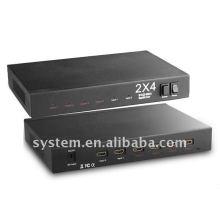 2x4 HDMI Verstärker Splitter