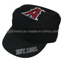 Lavé Imprimer Chapeau de chapeau militaire de broderie à bord de l'Applique Edge Edge (TRM019)