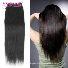 Natürliche Farbe PU Haut Schuss Haarverlängerung