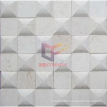 Chessboard Like Beige Marble Mosaic (CFS951)