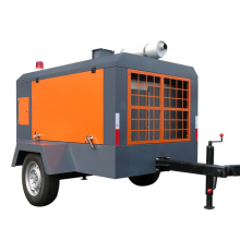 75HP portable air compressor for road construction