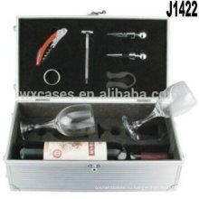Новое прибытие!! алюминиевая подарок коробки для вина очки Пзготовителей