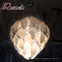 Lâmpada de pendente de Fluorescen de fatia de vidro de sala de visitas de alta qualidade