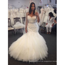 Fit und Flare Fließendes Schatz Hochzeitskleid