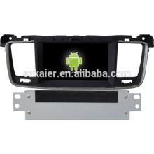 Voiture android Gps navigation pour Peugeot 508 avec GPS / Bluetooth / TV / 3G / WIFI