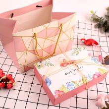 Flamingo pattern pink biscuit boxes packaging