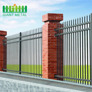 wide+welded+powder+coated+picket+steel+fencing