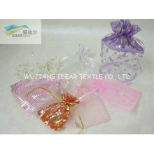 light weight Bright Foiling Polyester Organza For Candy Bag