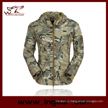 Hoodie Stealth tubarão pele macia casaco Shell Camo jaqueta