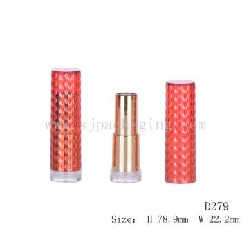Único tubo de labios de oro vacío