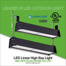 SNC 100W dimmable LED linear high bay light UL cUL approved IP66 100-277VAC 2700-6500K 5 years warranty good heat dissipation