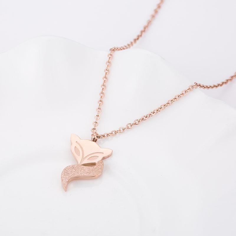 Fox Pendant Necklace