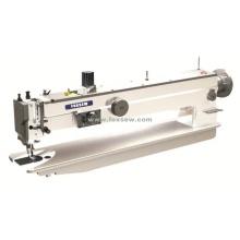 Máquina de coser en zigzag de alta resistencia con alimentación superior e inferior de brazo largo