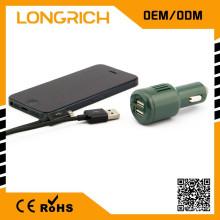 Автомобиль необходим универсальный 3 в 1 автомобильное зарядное устройство, изысканный 2-портовый USB-зарядное устройство 12v