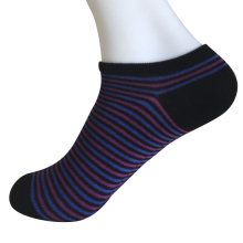 Medio cojín poli moda no mostrar calcetines de rayas finas (jmpn04)