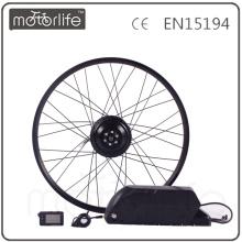 MOTORLIFE / OEM marca 2015 CE ROHS passar 500 w e kit de conversão de bicicleta, bateria 36 v 20.4ah max