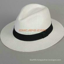 Custom Design Panama Cap with Printed Logo Ribbon