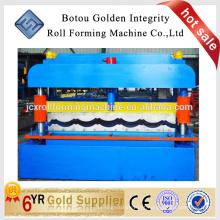 Qualidade superior Telha de aço pintado a cores Máquina de formação de rolo de telha