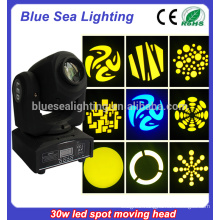 30 watt led moving head gobo moving head led beam/light patterns