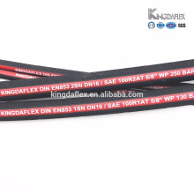 two high steel wire braided fuel abrasion resistant hydraulic high pressure qingdao flex rubber hose