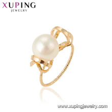 15461 xuping fashion jewelry latest design elegant style imitation pearl ring for women