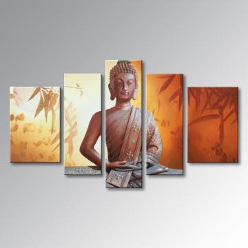Handgemalte Buddha-Ölgemälde auf Leinwand Abstrakte Wand-Kunst-Dekor-Grafik