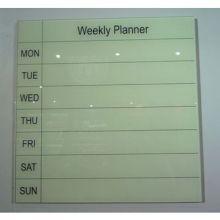 Calendrier de la semaine du verre écrit Borad