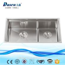 DS7843 ручной работы угловые кухонные мойки из нержавеющей стали Бланко кухонные мойки швабра раковина