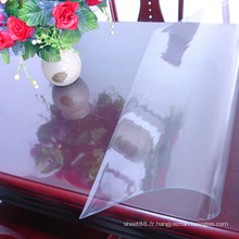 Feuille transparente molle de PVC pour la table