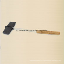 Чугунная лепешка с 21 см ручкой