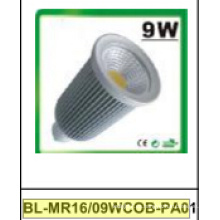 9W regulable / no regulable MR16 COB LED proyector