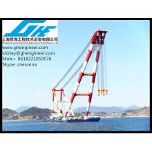 Bulk Handling Floating Barge Crane 80T