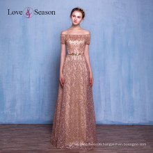 OB96182 evening dress with belt lace luxury lace long formal evening dress 2017