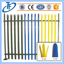 La clôture en palissade en acier revêtue de PVC la plus vendue
